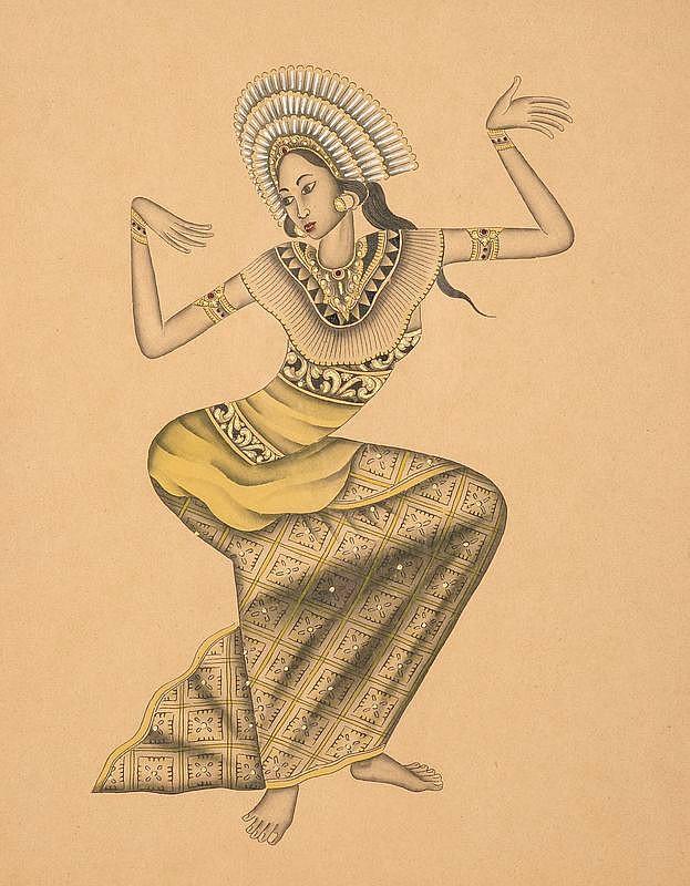 I Ketut Rudin (1918/20), 'Danseres', verso