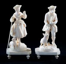Paar Elfenbeinfiguren,