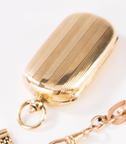 Goldene Sprungdeckeldose,