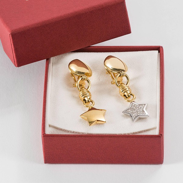 Paar moderne Ohrringe,