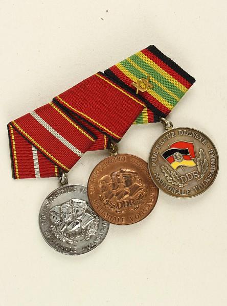Ordensspange mit 3 Auszeichnungen: