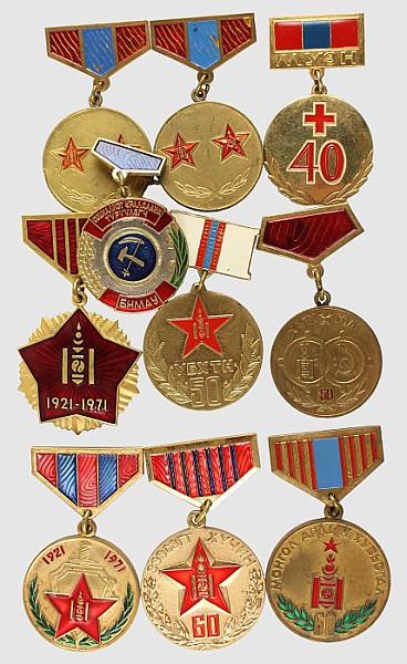 Konvolut von 10 Medaillen,