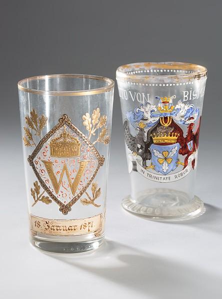 2 Patriotische Gläser