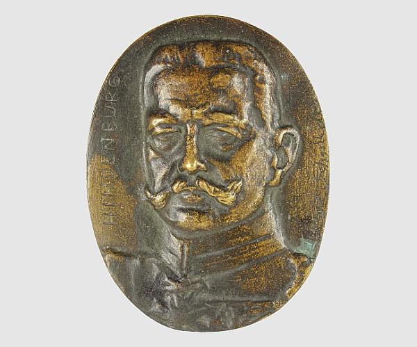 Ovale Plakette Generalfeldmarschall Paul von Hindenburg,