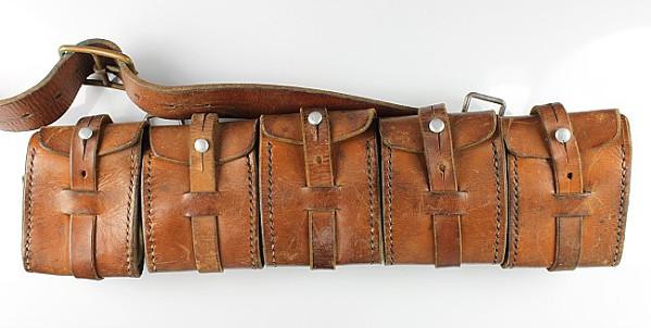 3 lederne Patronentaschen: