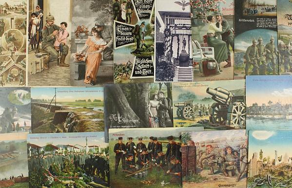 Konvolut von 50 Postkarten