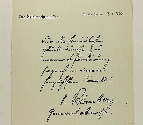 Blomberg, Werner von.