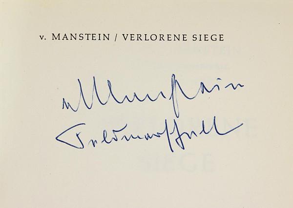 Manstein, Erich von.