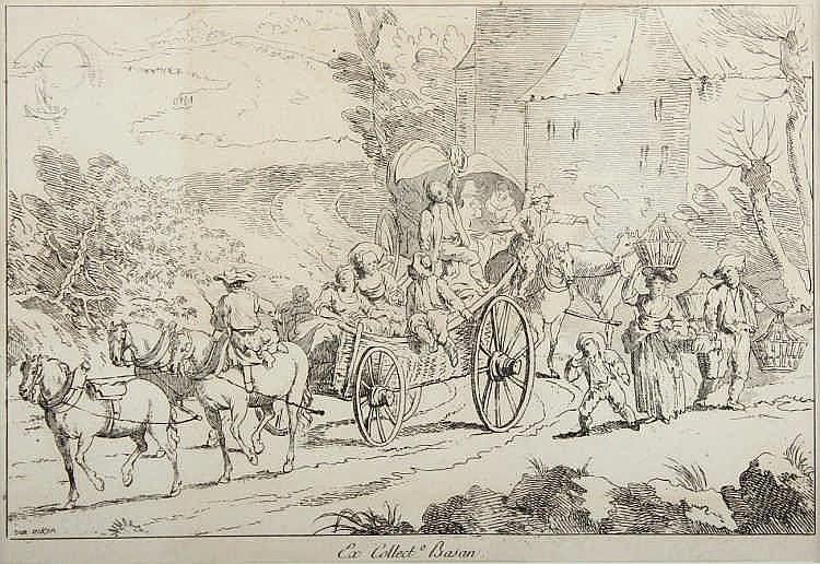 AKEN, Jan van (1614-1661), ''Die Reisenden'', Radierung, 15 x 23, in der P