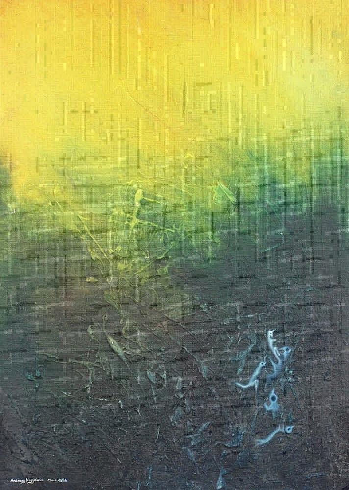 NOSSMANN, Andreas, ''Ein hoffnungsvoller Anfang'', Öl/Hartfaser, 70 x 50,
