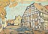 KOHLSCHEIN, Josef II (1884-1958), ''Dorfstraße'', Öl/Platte, 31 x 43, unte, Joseph (1884) Kohlschein, Click for value