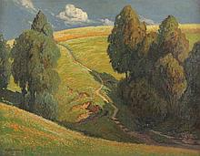QUARCK, Karl (1869-1950), ''Landschaft mit Quelle'', Öl/Lwd., 66 x 85, unte