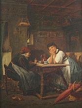 EWERS, Heinrich (1817-1885), ''Besuch der alten Wahrsagerin'', Öl/Lwd., 43