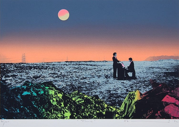 SCHULT, H.A. ''Trash the concert'', Farbserigrafie,25,5 x 37,5, nummeriert 74/100, betitelt, handsig