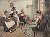 MALEMPRÉ, Leo (1860-1901), ''Musizierende Venezianer'', Öl/Lwd., 63 x 85, u, Leo Malempré, Click for value