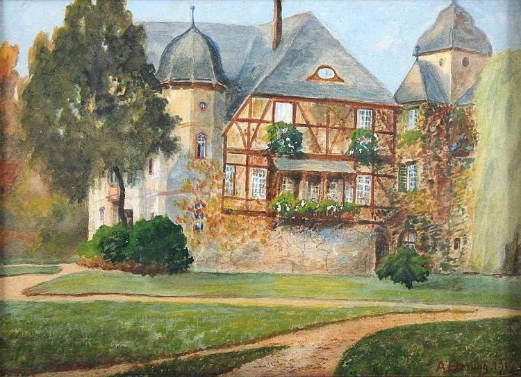 EBERLING, Alfred Rudolfovich (1872-1950), ''Blick auf das Schloss der Grafe