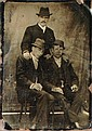 FERROTYPE End of the 19th century. Group portrait