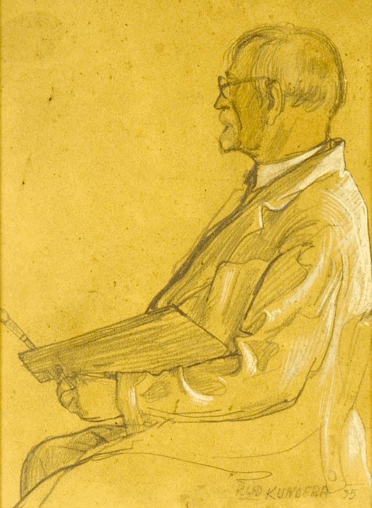 Rudolf Kundera (1911-2005) PORTRAIT OF ALFONS