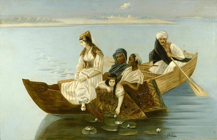 Karl Kaufmann (1843-1902) Women gathering water
