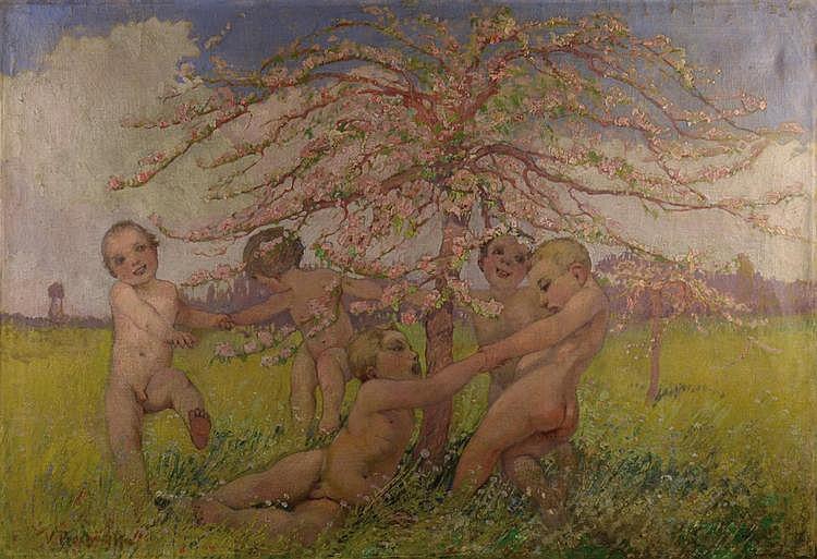 Jaro Procházka (1886-1949) SPRING CELEBRATION.