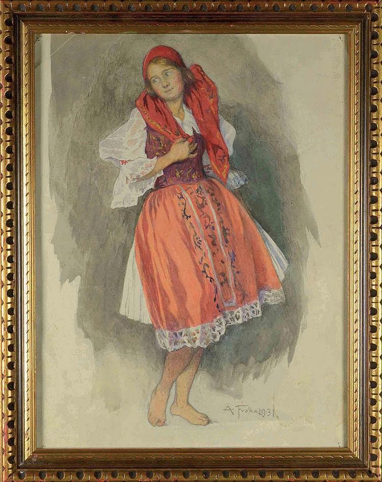 Antoš Frolka (1877-1935) GILR IN A FOLK COSTUME.