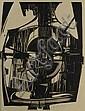 Bohdan Lacina (1912-1971) CIVILIZATION. Linocut on