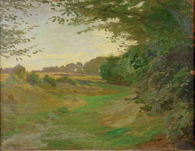 Oskar Frenzel (1855-1915) LANDSCAPE. Oil on