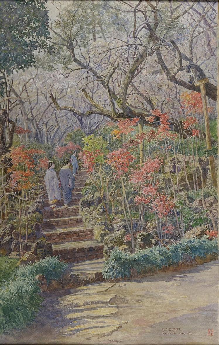 Rudolf Bernt (1844-1914) JAPANESE GARDEN. 1911.