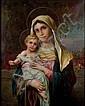 Hans Zatzka (1859-1945) VIRGIN MARY WITH JESUS.