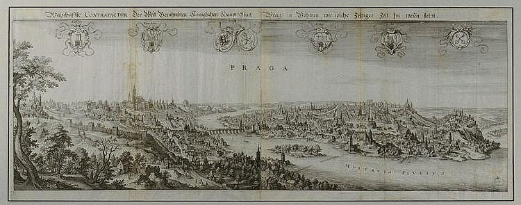 Matthäus Merian (1593-1650) VIEW OF PRAGUE. First