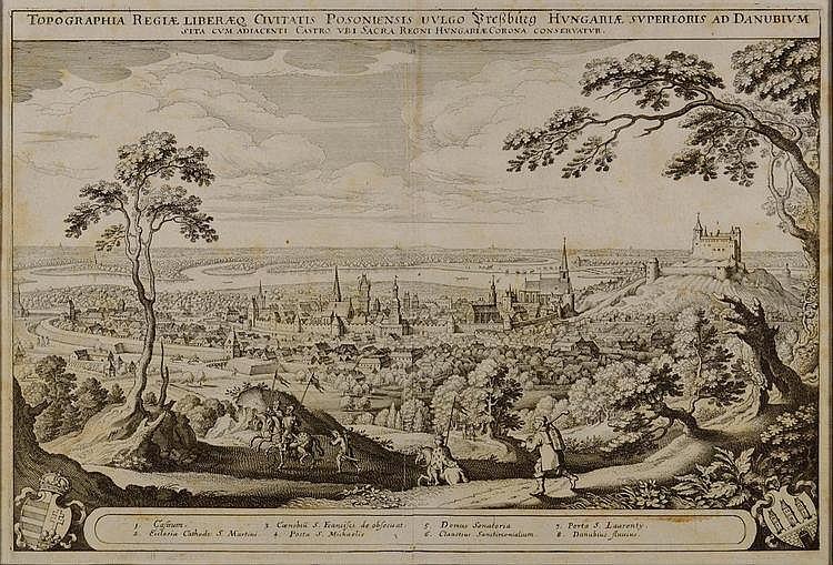 Matthäus Merian (1593-1650) VIEW OF BRATISLAVA.