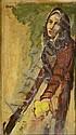 Rudolf Kundera (1911-2005) APPLE SALES GIRL. 1937., Rudolf Kundera, Click for value