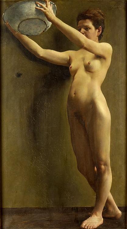 Josef Loukota (1879-1967). Nude, 1899. Academic