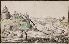 Franz Heufeld A FLEMISH LANDSCAPE. 18th century.