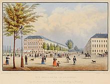 Johannes Poppel HAMBURG PROMENADE. A half of 19th