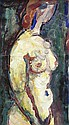 Jan Bauch (1898-1995): Nude. Tempera and oil on, Jan Bauch, Click for value