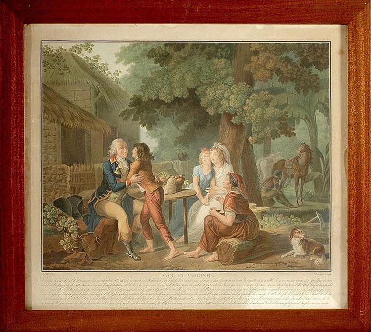 Jean Frederic Schall (1752 - 1825), Charles Melchior Descourtis (1753 - 1820)