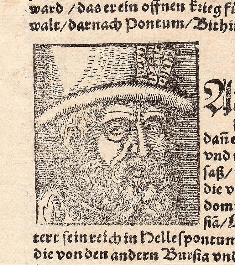 BOOK ILLUSTRATION WITH PORTRAIT OF RUDOLPH II.
