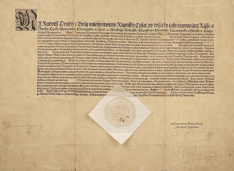 MANDATE OF EMPEROR OF RUDOLPH II.