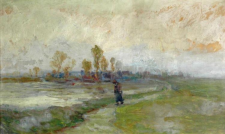 ALOIS KALVODA (1875-1934), Landscape study. Study