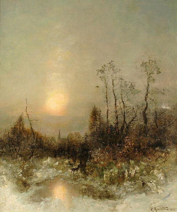 DÉSIRÉ THOMASSIN-RENARDT (1858-1933), Winter