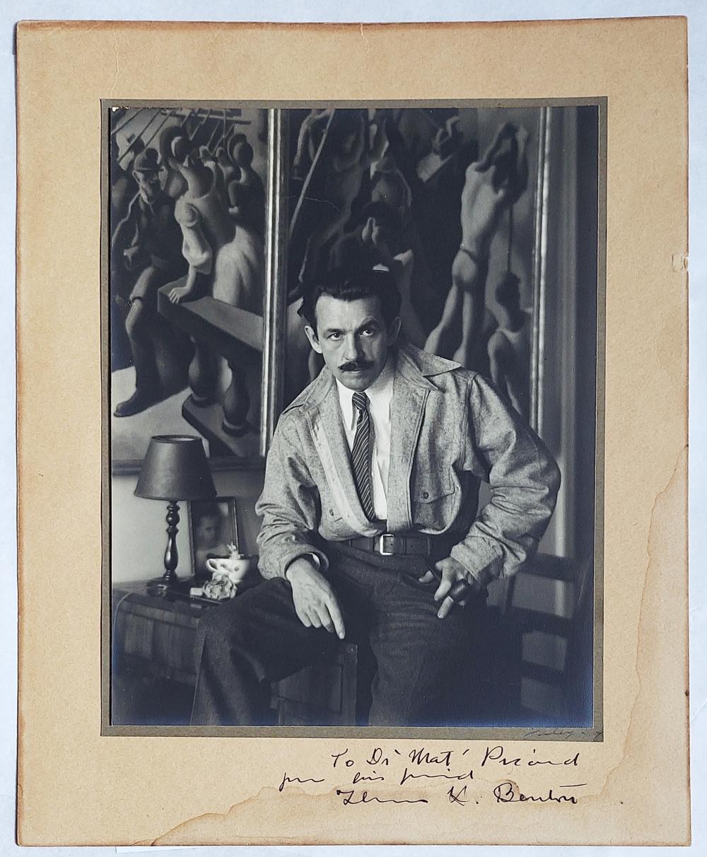 Thomas Hart Benton Signed/Inscribed 1930 Photograph by Peter Juley