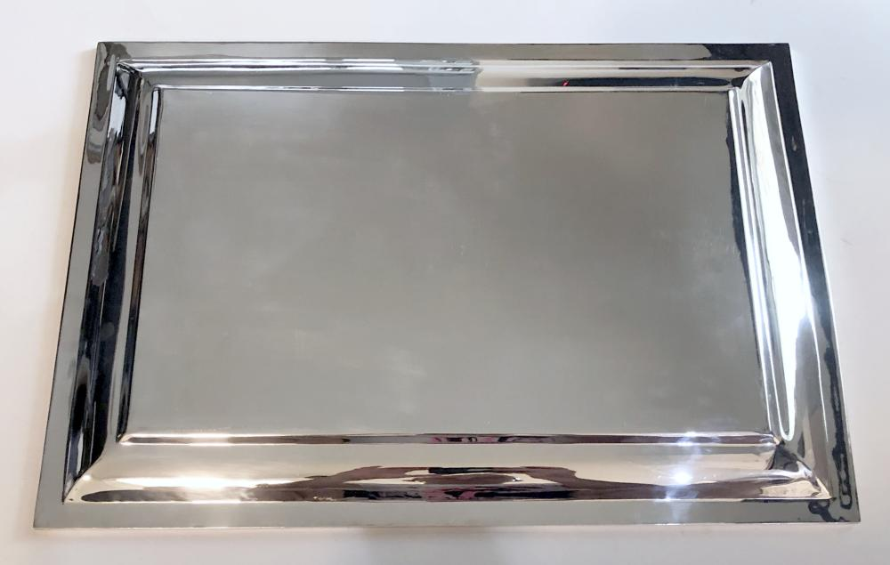 Pampaloni: Large 925 Silver Tray by Botega de Argenta, 1990s Italy