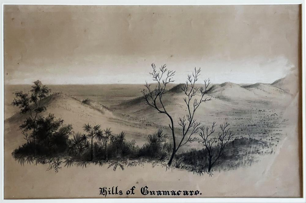 Charles DeWolf Brownell: Hills of Guamacaro, Cuba c.1850 Pencil on paper