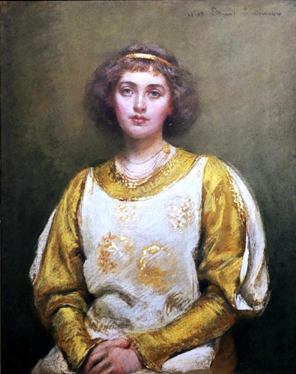 Rosina Emmet Sherwood: Young Lady, 1910s, Pastel