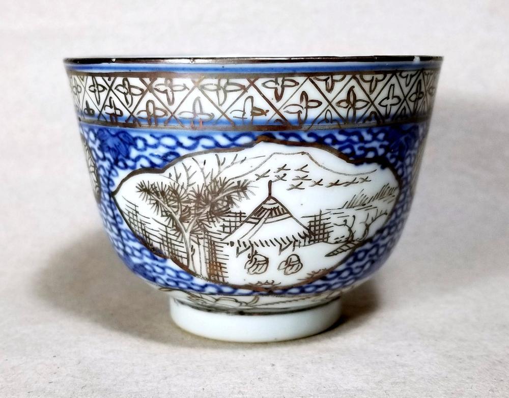 Blue & White Porcelain Landscape Teacup, Qing Dynasty Kangxi (1662-1722)