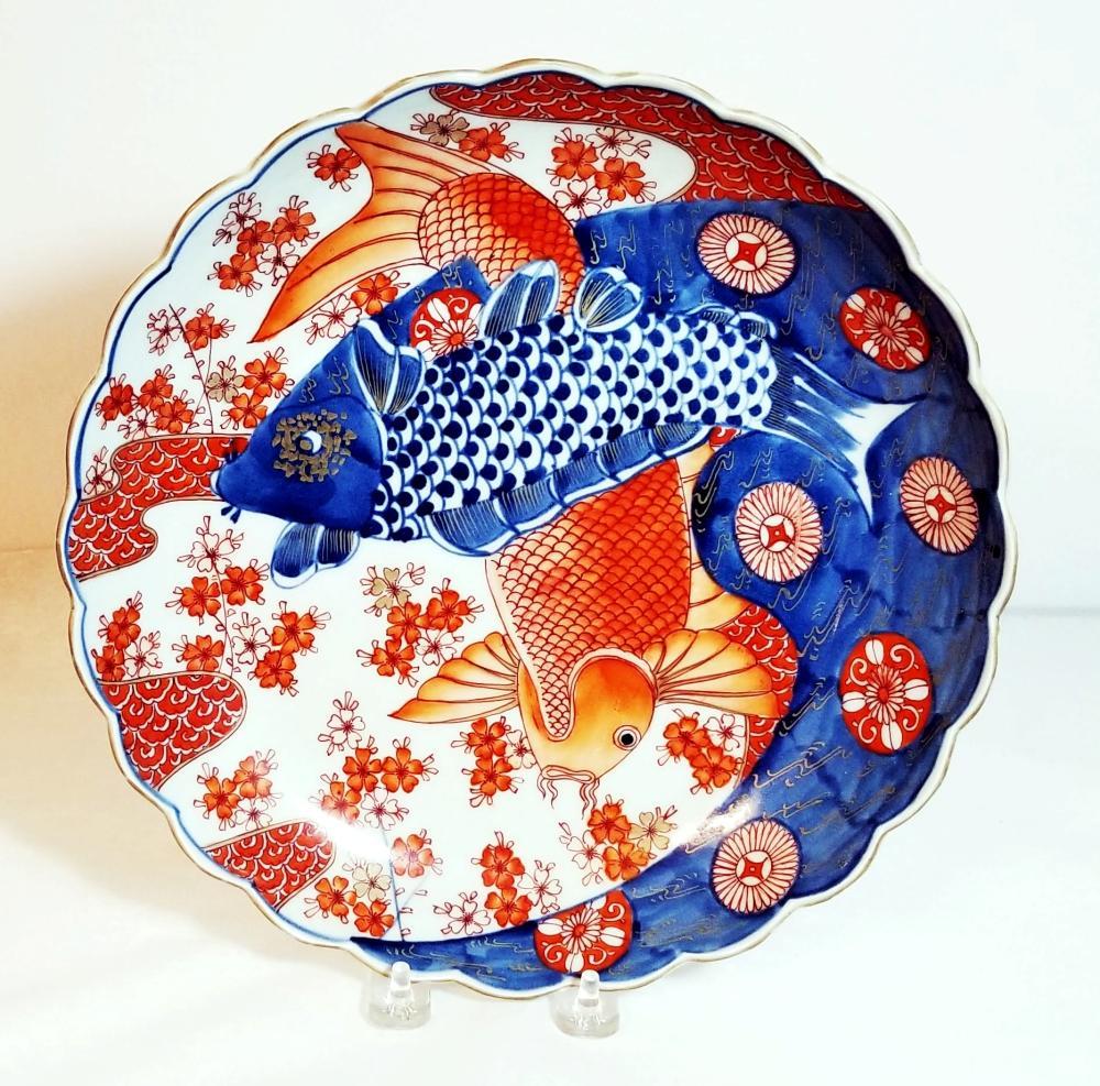 Imari Fish Platter. Meiji, 19th Century
