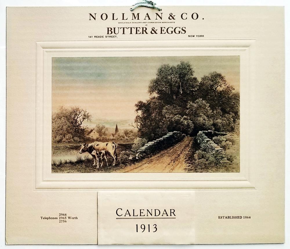 Wall Calendar 1913: Nollman & Co. Lithograph 1912