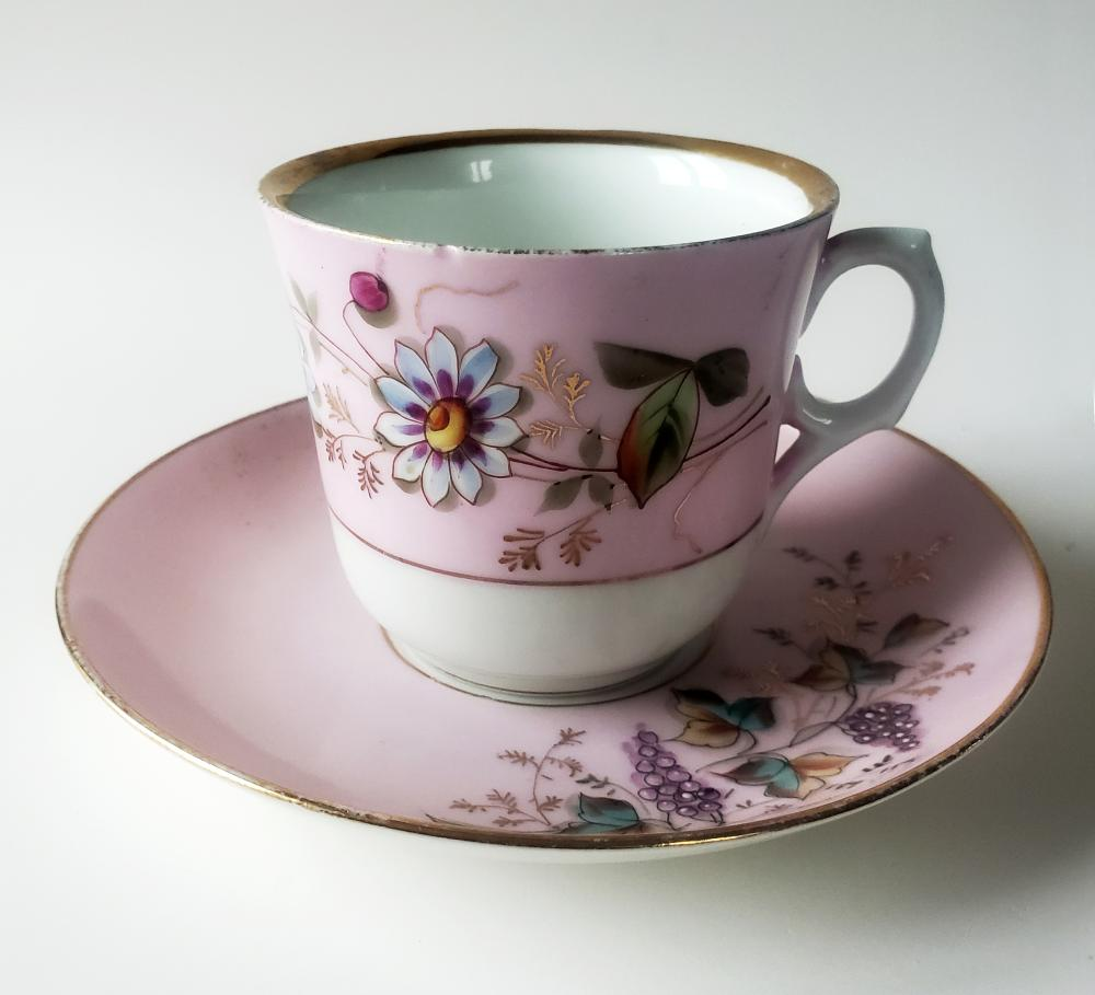 Teacup & Saucer Kuznetsov Russian Imperial Factory 1890s