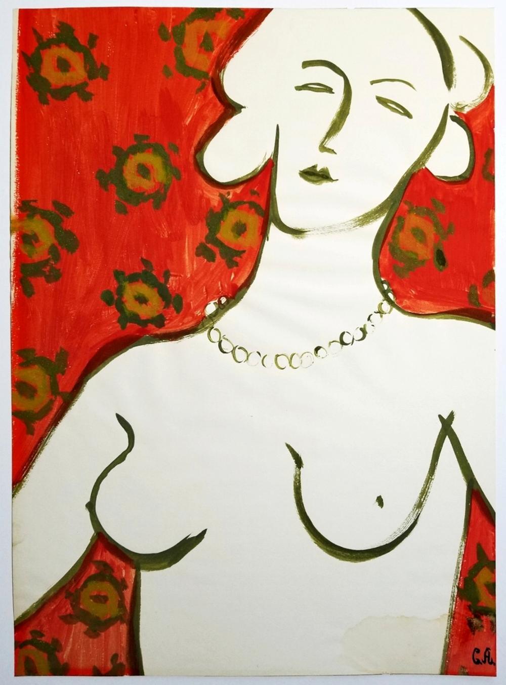 Constantine Alajalov: Cover Study c.1930s Color on Paper